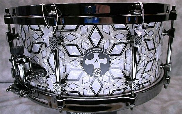 "Tama 14 x 6"" John Dolmayan Signature Snare Drum, 6 ply maple shell, 5 mm die cast 10 hole Black Nickel hoops, specially designed tube lugs, MUS80ABN/MUS80BBN snare strainer/butt with unique covered finish modeled after  Dolmayan's one-of-a-kind Egyptian Mosaic drum kit."
