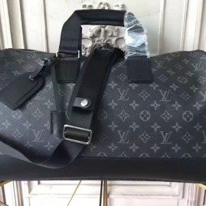 234750318 Replica Louis Vuitton M43038 Monogram Eclipse Canvas Keepall Voyager Bags