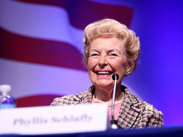 "Exclusive–Phyllis Schlafly Makes the Case for President Trump: 'Only Hope to Defeat the Kingmakers' | Breitbart | 1.10.16 |""91-year-old conservative icon Phyllis Schlafly declared that Donald Trump ""is the only hope to defeat the Kingmakers,"" and detailed why she believes Trump alone will return the government to the people. She warned that if immigration is not stopped: ""we're not going to be America anymore."""""