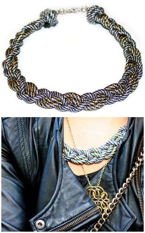 The Best DIY Necklace Braided Ideas On Pinterest DIY - Diy braided necklace