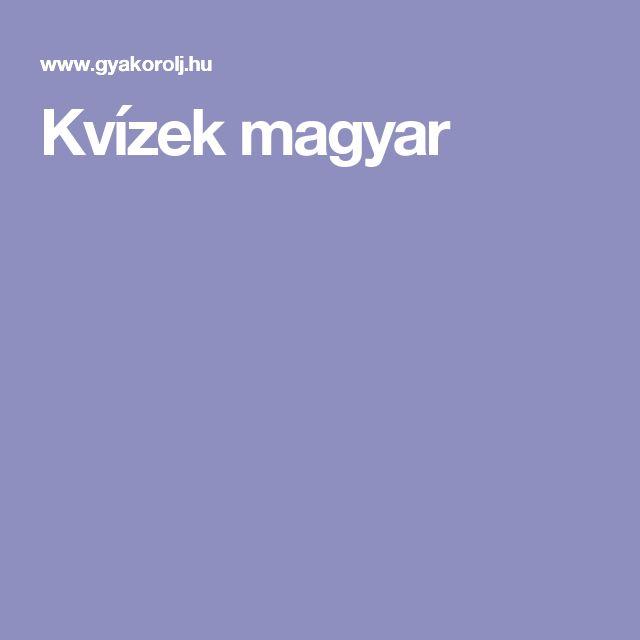 Kvízek magyar