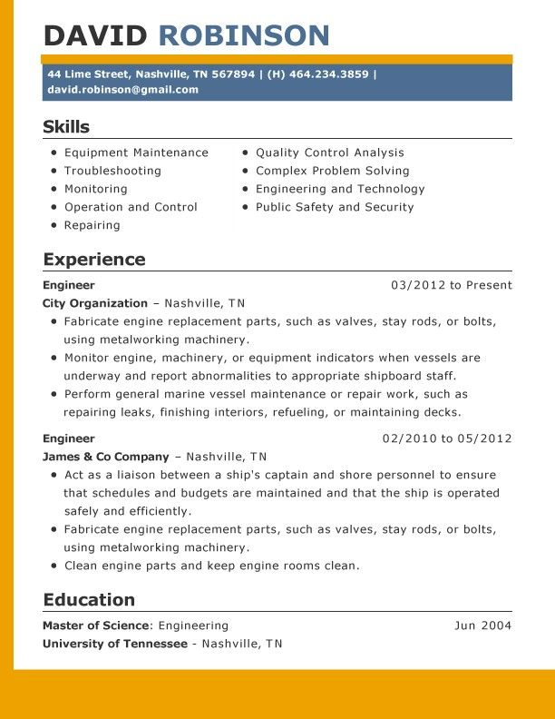 85 Best Resume Template Images On Pinterest | Resume Templates