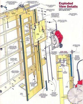 panel saw woodworking plan werkstatt pinterest handwerker und werkstatt. Black Bedroom Furniture Sets. Home Design Ideas