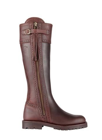 Picture of Spanish Riding Boots classic: Brown (tread sole)