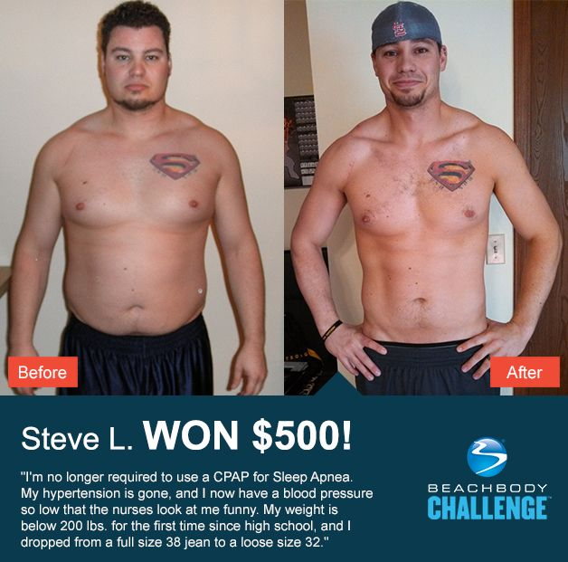 ::07/25/13:: Steve saw some AWESOME results in 7 months of #Insanity + #Shakeology. REPIN and LIKE to give him some props!