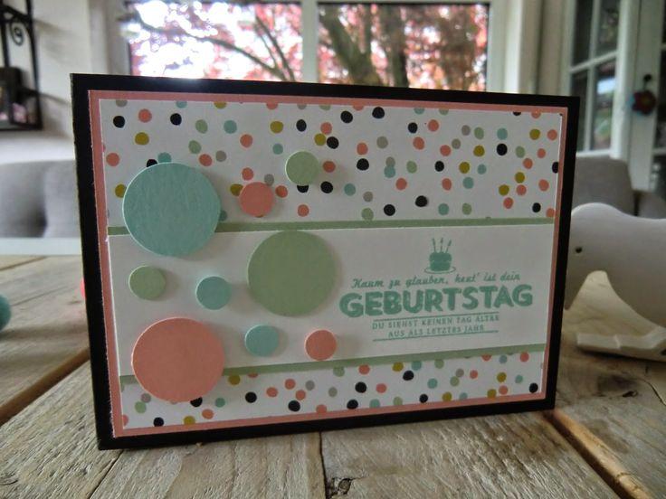 Stampin Up Geburtstagskarte mit Bildlich gesprochen und Pünktchen