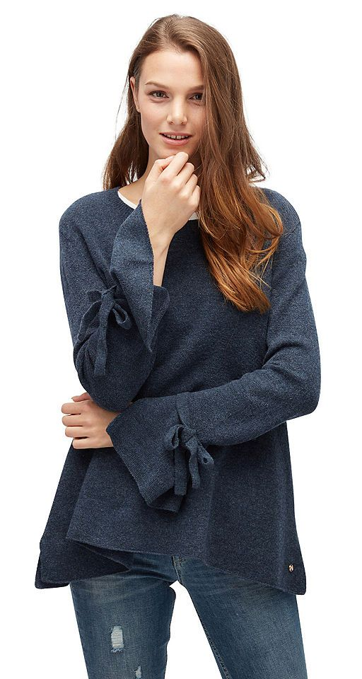 Tom Tailor Denim Longpullover »Pullover mit Bindeband am Ärmel« Jetzt bestellen unter: https://mode.ladendirekt.de/damen/bekleidung/pullover/longpullover/?uid=4d7fc28d-ec70-5074-a1ba-23e1ebd47bab&utm_source=pinterest&utm_medium=pin&utm_campaign=boards #longpullover #pullover #bekleidung