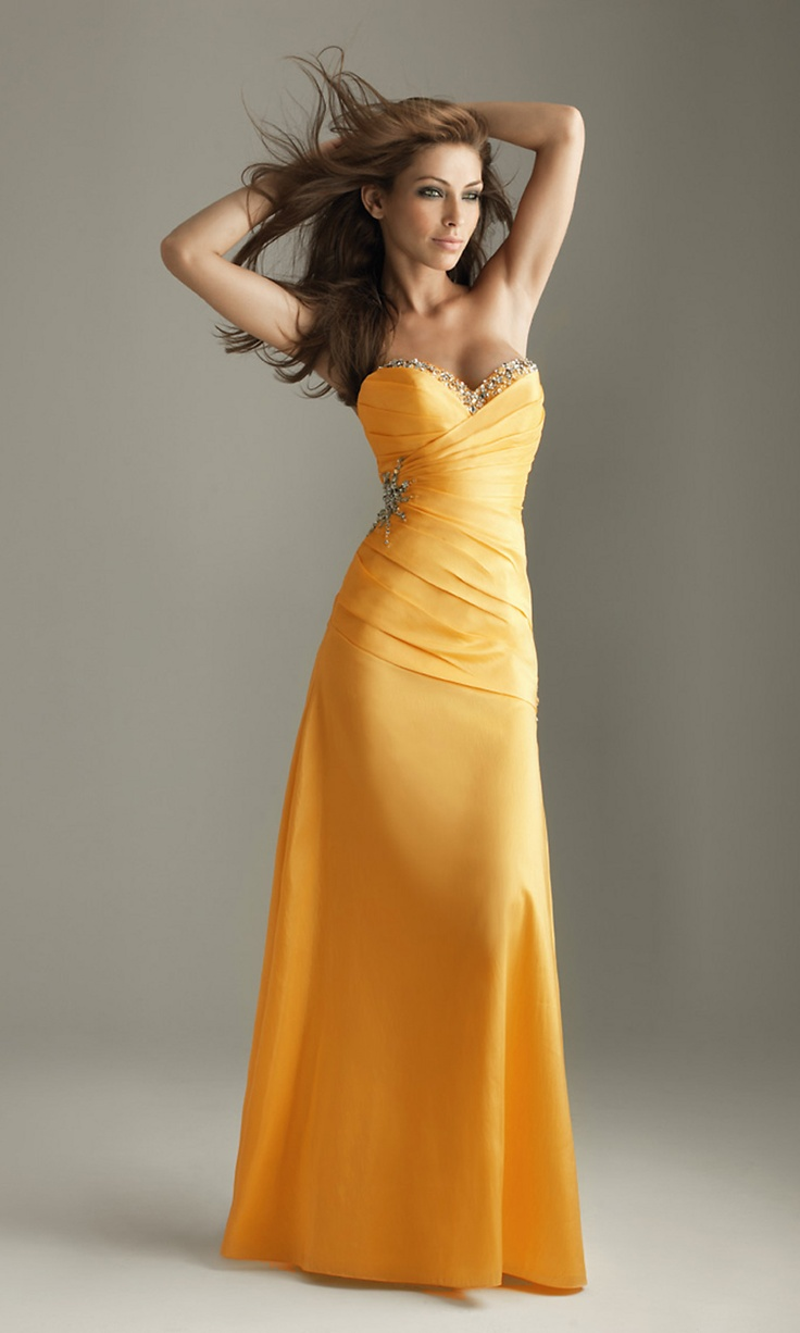 Strapless Yellow Dress by Night Moves (Not sure who needs it more... myself, or my future bridesmaids!)
