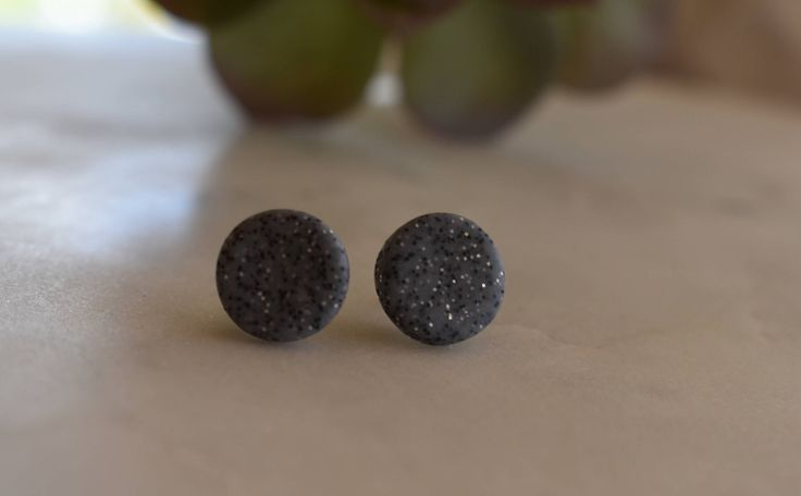 A personal favourite from my Etsy shop https://www.etsy.com/au/listing/519677622/granite-polymer-clay-earrings-12mm-studs