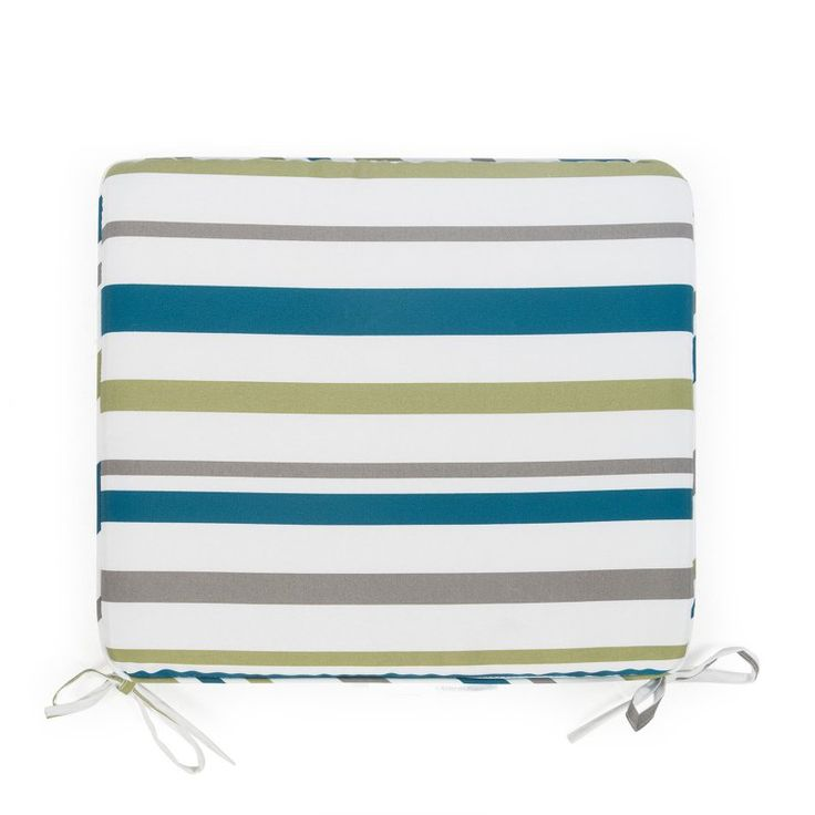 Coral Coast Classic 19 x 17 in. Outdoor Furniture Seat Pad Oceanside Stripe - M025-PC135-OCEANSIDE STRIPE