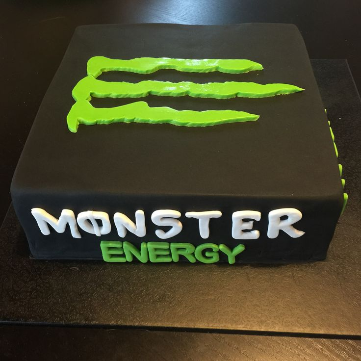 Monster Energy cake                                                                                                                                                     More