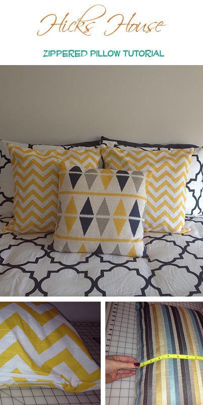 Zippered Pillow Case Tutorial | Hicks House & 231 best DIY - Pillows/Duvets/Cushions images on Pinterest ... pillowsntoast.com