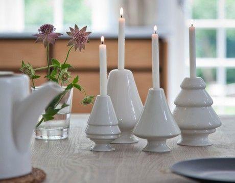 Avvento Kerzenhalter, weiß