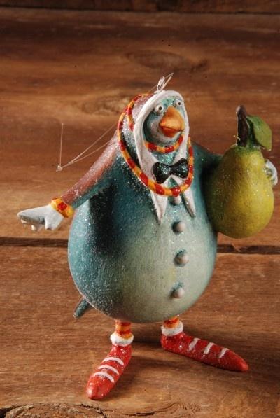 12 Days of Christmas Ornaments - Partridge - 2012 Patience Brewster Krinkles