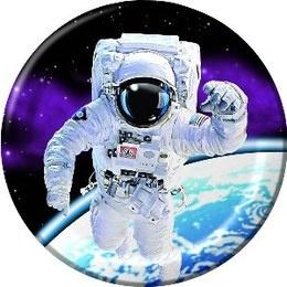 Bordjes astronaut -  Een set met 8 prachtige bordjes bedrukt met een astronaut in de ruimte. Doorsnede: 18cm.
