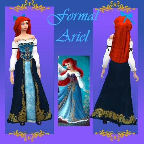 Sims 4 medieval and fantasy | Ariel and Eric (with mermaid outfit!)