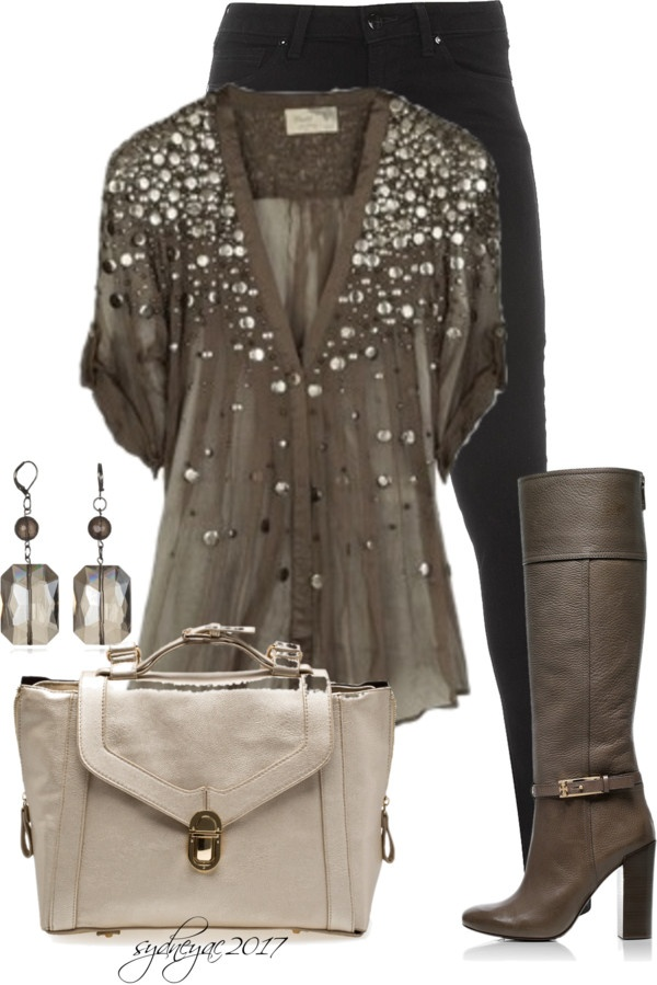 """""""Black and Brown"""" by sydneyac2017 on Polyvore"""