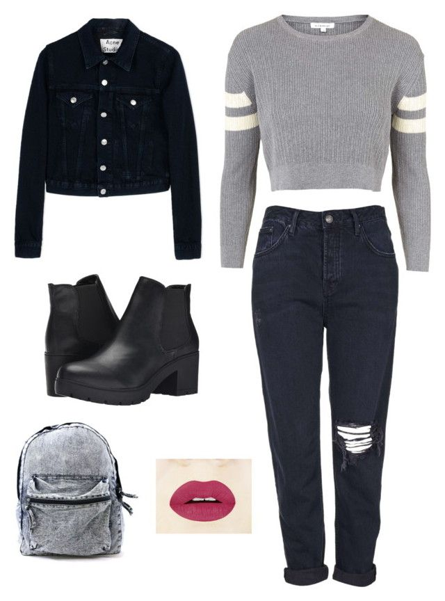 """""""YAS"""" by valth on Polyvore featuring moda, Topshop, Acne Studios y Steve Madden"""
