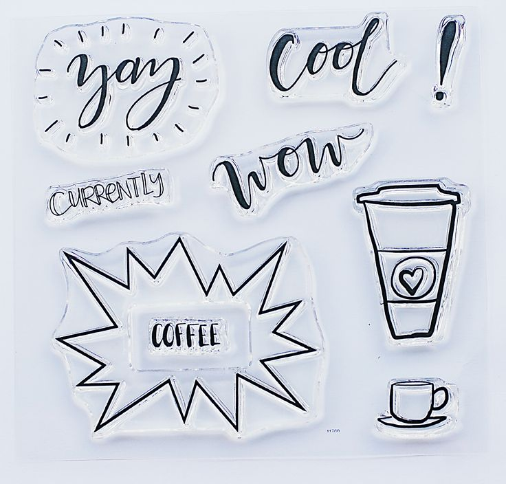 clear stamps - WOW coffee