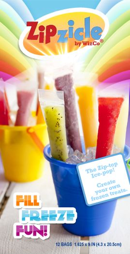 Zipcicles! Reusable otter pop-style packages you can use and refill with healthy mixes!