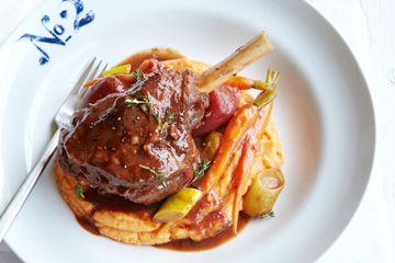 Winter is here! Cheer yourself up with these lamb shanks with sweet potato cinnamon mash.