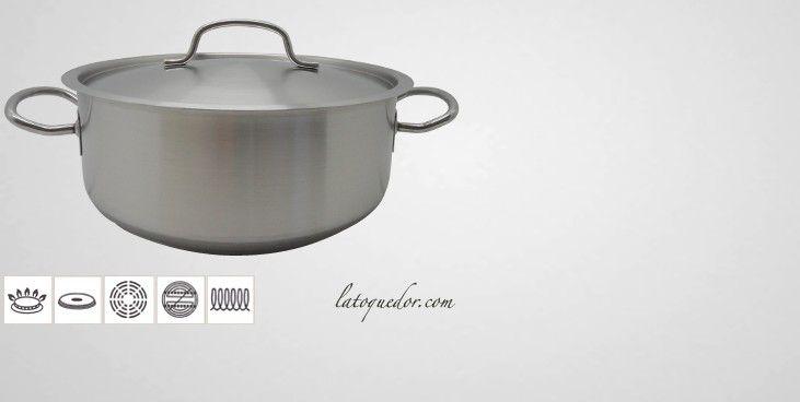 Faitout inox Chef Classic profesionnel compatible induction avec fond encaspulée.