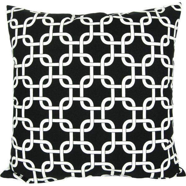 Kissenbezug Gotcha schwarz-weiß grafisches Muster  40 x 40 cm