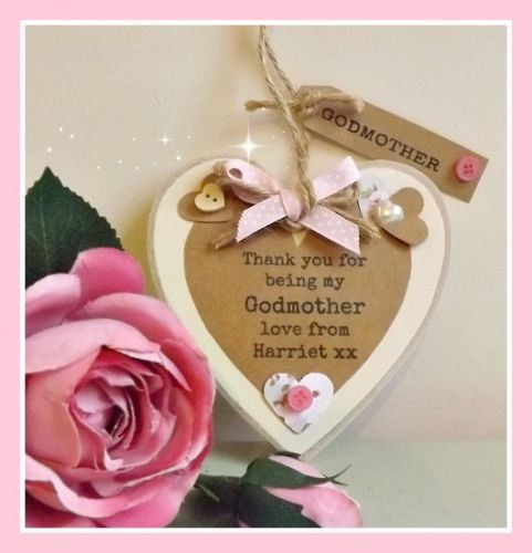 Personalised Godmother Plaque Sign by TheLittleGreenshed14 on Etsy