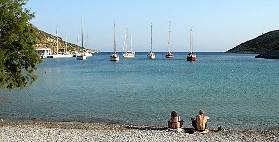The many yachts is one of the island's few attractions.