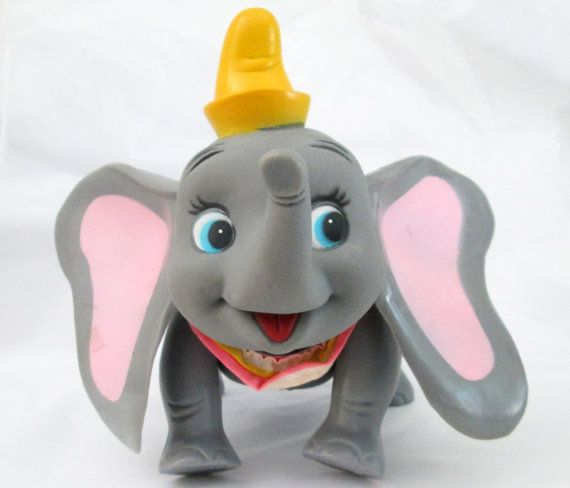 Dumbo Vintage Disney   Pose-able Rubber and by MetalsomeSwine
