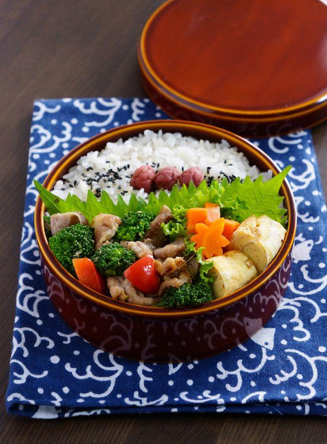 豚肉とブロッコリーのオイスターソース炒め弁当