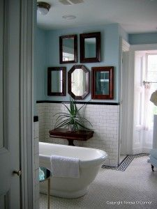 Loved this classic bathroom at P. Allen Smith's garden retreat.