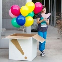 Make someone's birthday (or any day!) a little better with a DIY balloon surprise on their doorstep! I think this is the best idea for a fun suprise present.