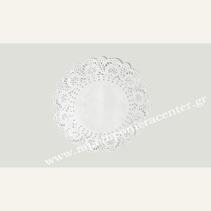 Σουπλά χάρτινο στρογγυλό δαντέλα διάμετρος 16,5cm