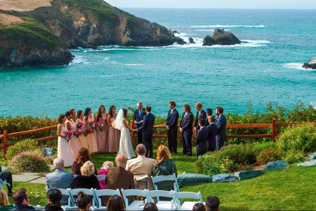 Oceanfront wedding venue in Northern California.