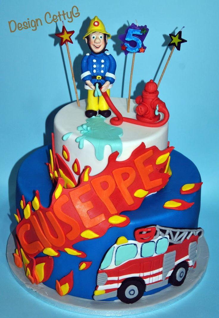 Le torte decorate di CettyG...: Sam il pompiere...