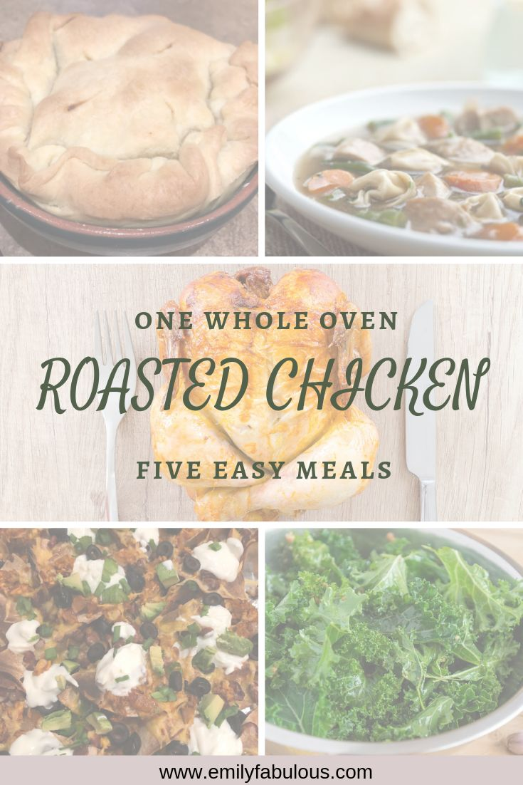 A Simple Whole Roasted Chicken recipe cooked in less than 2 hours. You can plan out easy meals for the week that will ke…
