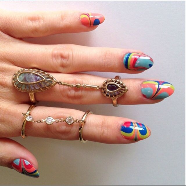192 best water marble nail art gallery images on pinterest nail beauty and skincare water marble nailsbling prinsesfo Gallery