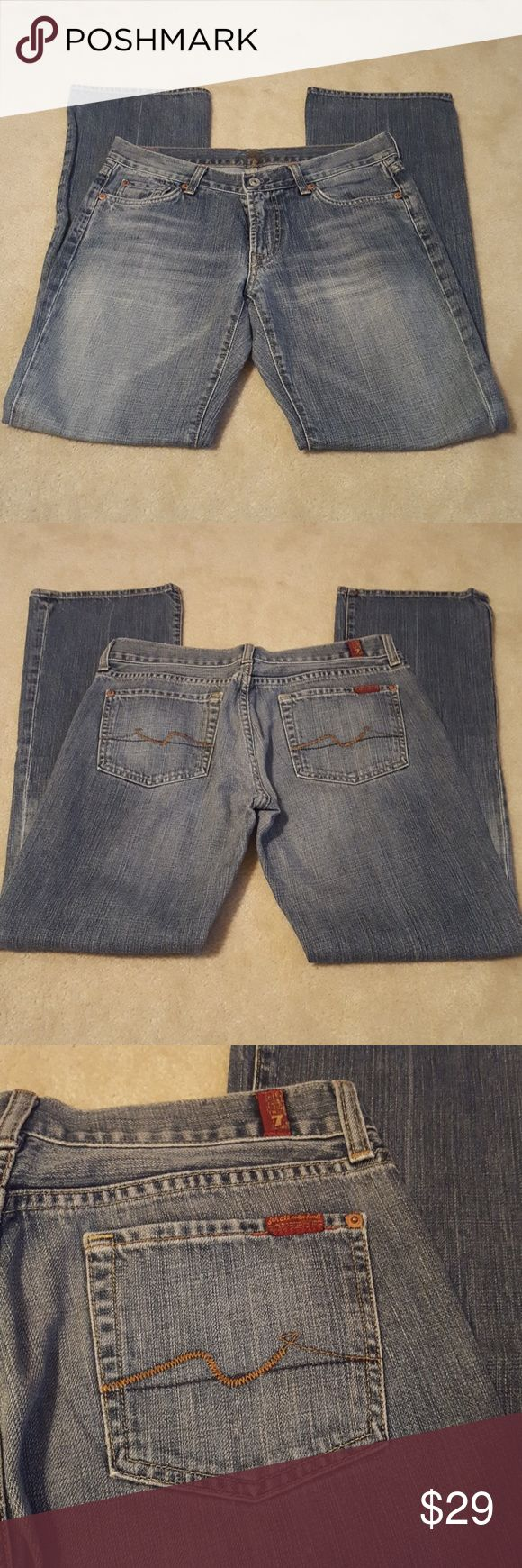 Authentic 7 for all Mankind bootleg jeans SIZE 30 Authentic 7 for all Mankind bootleg jeans SIZE 30- great condition-gently worn 7 For All Mankind Jeans Boot Cut