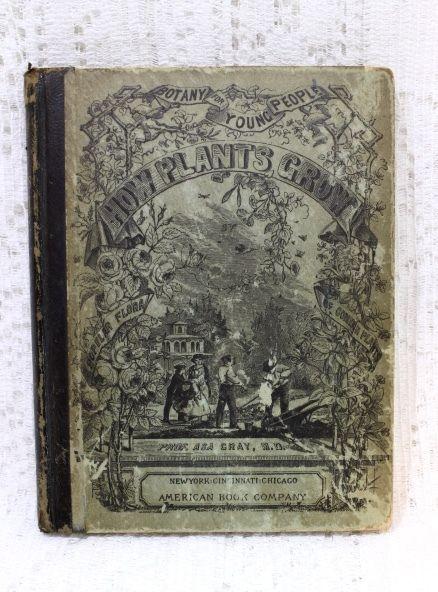 1858 Botany How Plants Grow Children's Book ~ $13