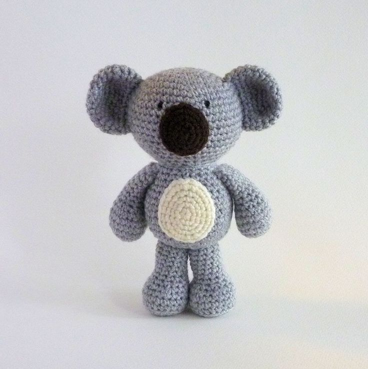 Amigurumi Koala, Plush Koala, Australian Animal Toy, Crochet Koala, Crochet Animal, Koala Bear, Stuffed Animal, Australian Made, Baby Safe by MWHandicrafts on Etsy https://www.etsy.com/listing/226153658/amigurumi-koala-plush-koala-australian