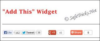 Add This Social sharing widget for blogger