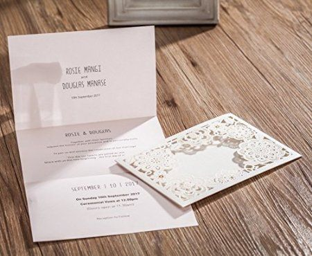 9 best wedding invitations lace floral invites with rsvp response