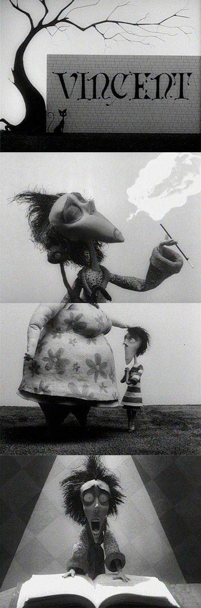 Vincent, 1982 (dir. Tim Burton). #blackandwhite #animation #movie