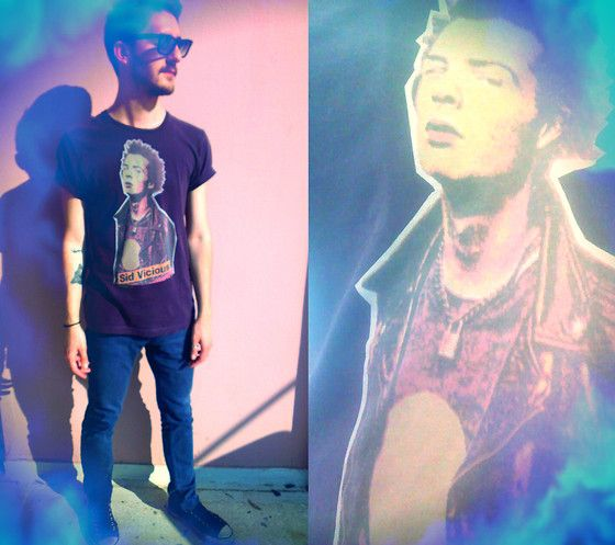 #sid #tshirt #eyewears #skinnny #blue #jean