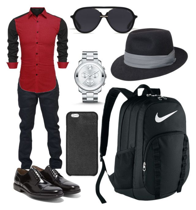 """Hanif  Going  To  Office"" by azmina2010 on Polyvore featuring Salvatore Ferragamo, Yves Saint Laurent, Michael Kors, Movado, NIKE, Bally, men's fashion and menswear"