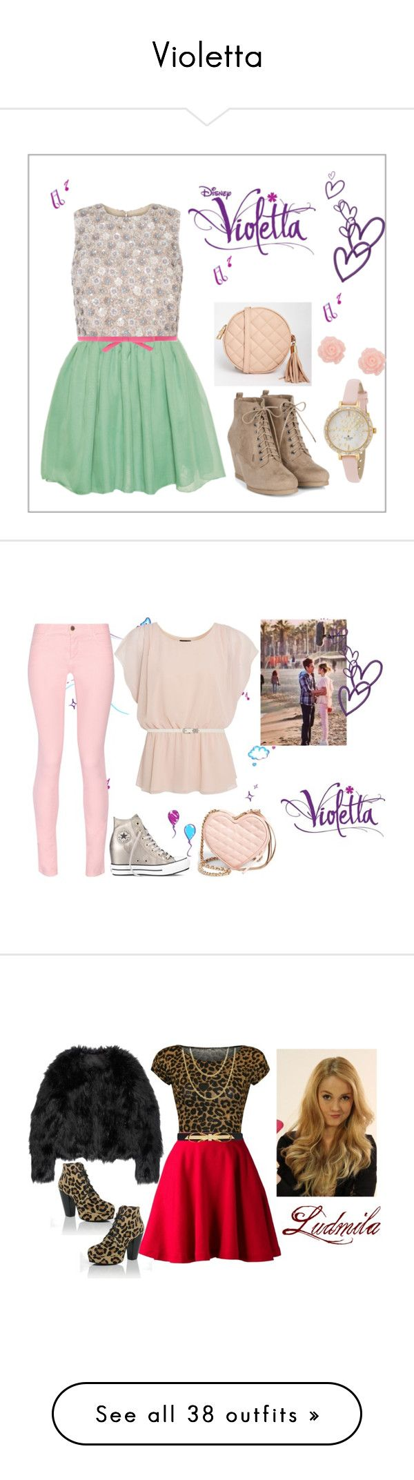 """""""Violetta"""" by stylewiktoria ❤ liked on Polyvore featuring Hearts & Bows, Kate Spade, White House Black Market, ASOS, ANNA, Ultimo, Maison Kitsuné, Converse, Forever New and Rebecca Minkoff"""