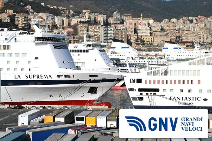 A little view of our fleet docked inside the harbor of Genoa, Liguria  See all GNV fleet here: http://www.gnv.it/en/gnv-en/fleet-gnv.html