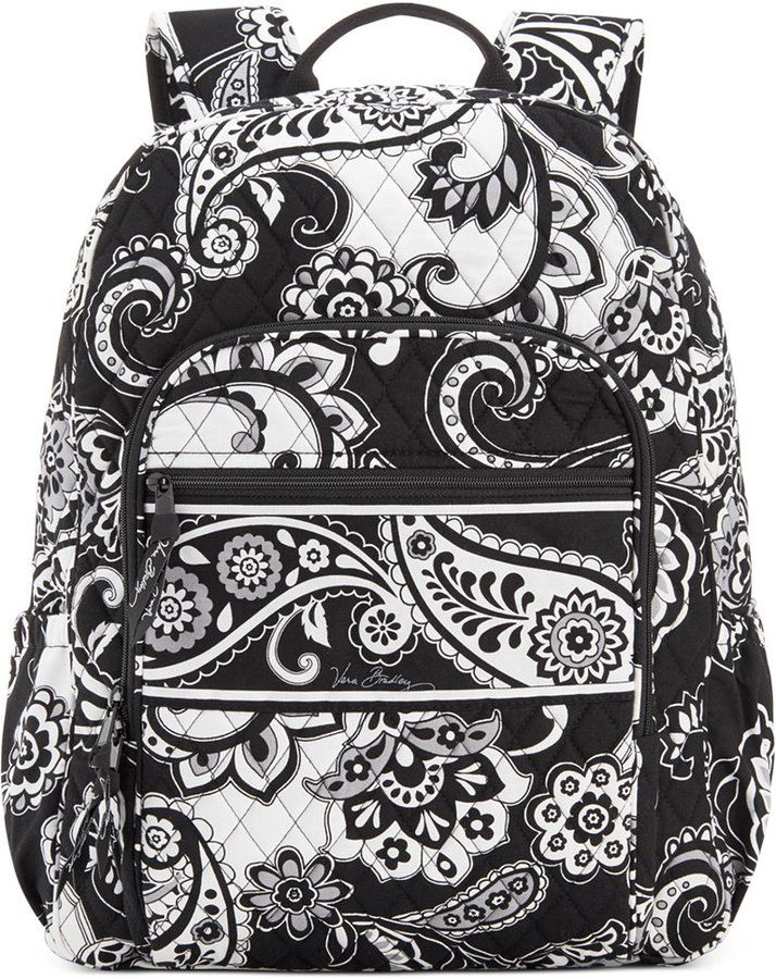 VERA BRADLEY CAMPUS BACKPACK  $109 by Vera Bradley at Macy's          Available Colors: Katalina Blue ,Marrakesh ,Midnight Paisley ,Parisian Paisley ,Pixie Blooms Available Sizes: DETAILS Old school meets the new cool. With its signature print, on-trend silhouette and instantly recognizable quilted construction, the Campus Backpack combines all the fun details you've come to love in one toss-and-go piece. By Vera Bradley. Quilted cotton; interior: nylon taffeta
