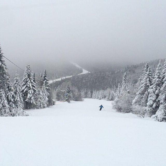 On se croirait dans la Sapinière! #goodsnow #goodtimes #skiquebec #sommetsstlaurent